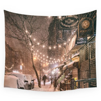 Society6 Snow - New York City - East Village Wall Tapestry