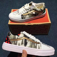 Trendsetter Vans Camouflage Canvas Old Skool Flats Sneakers Sport Shoes