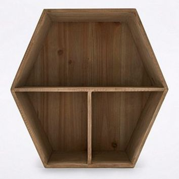 Wood Honeycomb Shelf - Urban Outfitters
