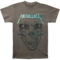 Metallica Men's  Pushead Ionised T-shirt Charcoal Rockabilia