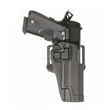 Blackhawk CQC Military Tactical Hunting Gun Holster Right Hand Belt Holster w Paddle fits Colt 1911