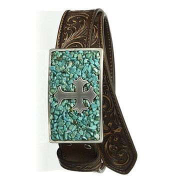 Fashion Vintage Fake Oval Turquoise Alloy Belt Buckle Women Men Western Cowboy