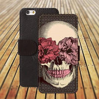iphone 6 case skull case flowers skull iphone 4/4s iphone 5 5C 5S iPhone 6 Plus iphone 5C Wallet Case,iPhone 5 Case,Cover,Cases colorful pattern L491