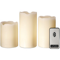 Northpoint 3-piece Led Flicker Candle Set