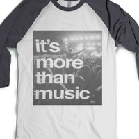 Music.-Unisex White/Asphalt T-Shirt