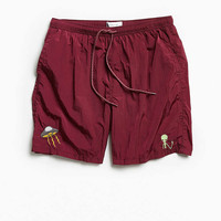UO Embroidered Slade Crinkled Nylon Short - Urban Outfitters