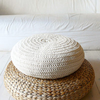Floor Cushion Crochet - ecru