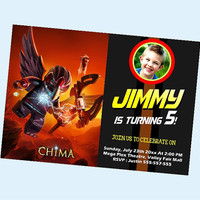 Razar Legend of Chima the beautiful personalized card as a digital file