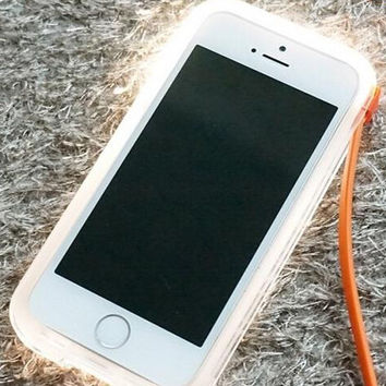 Orange Light Up Case Cover for iPhone 5s 6 6s Plus with Data Line Gift 231