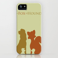 The Fox and The Hound iPhone Case by Citron Vert | Society6