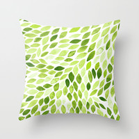 Leaves Throw Pillow by Alex Dehoff