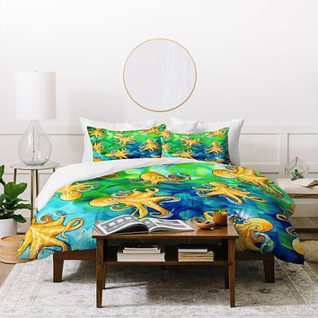 Madart Inc. Sea of Whimsy Octopus Pattern Duvet Cover
