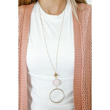 Don't Forget Necklace - Blush
