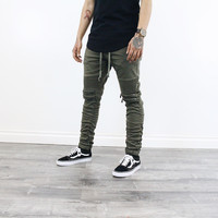 Jach Moto Stacked Pants (Olive Green)