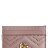 Gucci GG Marmont Matelassé Leather Card Case | Nordstrom
