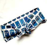 Doctor Who Tardis Headwrap, Bandana Geekery