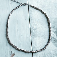 Hematite Seed Bead Choker Necklace 230S