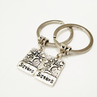 Sisters keychain sisters gift BFF keyring llaveros hermanas personalized jewelry best friend gift