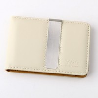 Brown/ Beige Fine Leather Wallet-Money Clip Mans Wallet Credit Card Holder with Magnetic Y&G Money Clip MW1001 One Size Brown