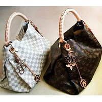 Hipgirls LV Louis Vuitton Fashion Lady Printed Shopping Bag Hand Bill Shoulder Bag