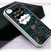 Iphone Case - Iphone 4 Case - Iphone 5 Case - Samsung s3 - samsung s4 - The Fault in Our Stars quote - Photo Print on Hard Plastic
