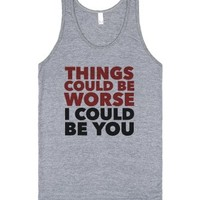 I Could Be You-Unisex Athletic Grey Tank