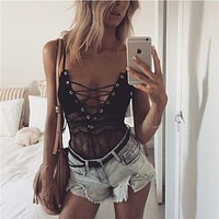 Lace Sexy Hot Sale Summer Women's Fashion One-piece [547878862889]