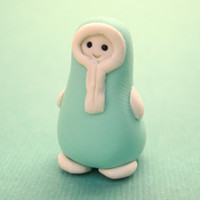 Anyu the Hiccup: A miniature clay figurine from LittleWooStudio