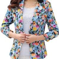 Casual Floral Printed Charming Blazers