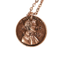 LOVEsick One Of A Kind Penny Necklace