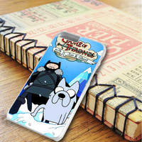 Game Of Thrones With Jon And Ghost Adventure Time iPhone 6 Plus | iPhone 6S Plus Case
