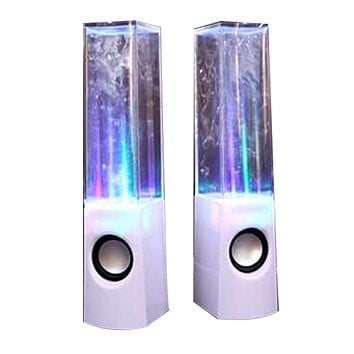 Dancing Water Speaker Music Fountain Light Speakers USB LED Dancing Water Show White