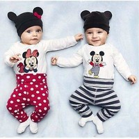 Mickey Mouse Or MInnie Mouse Clothing Sets for baby
