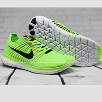 """""""NIKE"""" The new knitted net surface breathable sneaker soft-soled running casual shoes Green"""