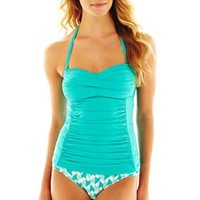 jcp™ Solid Side-Panel Tankini Swim Top
