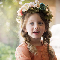 Vintage Glam - Shades of Grace - Whimsy Flower Crown