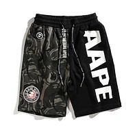 AAPE BAPE Newest Trending Men Women Stylish Casual Camouflage Color Matching Sport Running Shorts I-CP-ZDL-YXC