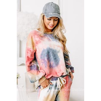 Steady Loungin' Soft Brushed Tie Dye Top