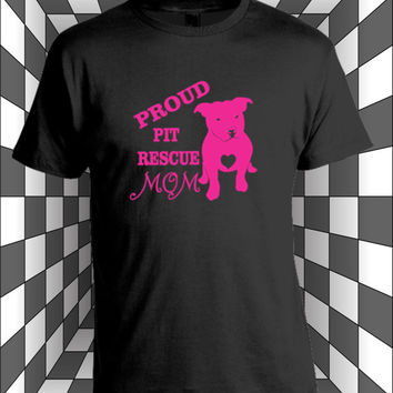 Proud Pitbull Mom T-Shirt