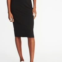 Fitted Jersey-Knit Pencil Skirt for Women | Old Navy