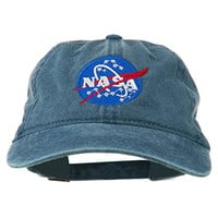 NASA Insignia Embroidered Pigment Dyed Cap - Navy OSFM