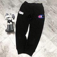 Champion New fashion embroidery letter couple sports leisure pants Black