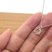 Star of David Necklace, Sterling Silver Necklace,  Magen David necklace, Tiny Silver Star David necklace, Dainty necklace