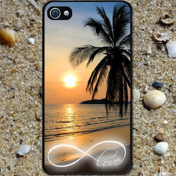 Iphone case Iphone 4 case Iphone 5 case Samsung Galaxy S3 Case Infinity Love Beautiful Sunset Beach  cool awesome Iphone 4s case