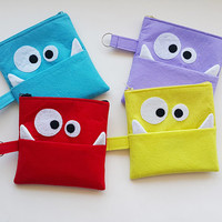 Monster Coin Purse, Mini Wallet,ID Holder, Coin Purse, Small Accessory Pouch ,Cigarette Cases,Keychain Wallet,Credit Card Case,FREE SHIPPING
