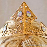 Sleeping Beauty Adult Costume 2013 Styled Metal Crown Swirl Embellished Crystals