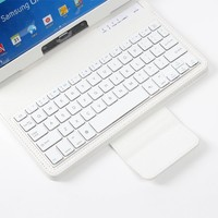 NEWSTYLE White Color Slim Detachable Removable Wireless Bluetooth ABS Plastic Keyboard Stand PU Protective Folding Leather Case Cover For Samsung Galaxy Note 10.1 2014 Edition P600