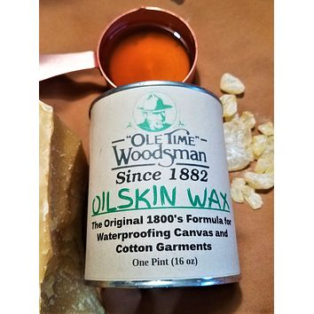 Ole Time Woodsman Oilskin Wax: The Original 1800's Civil War Formula for Waterproofing Canvas and Cotton Garments. (Free Shipping in USA)