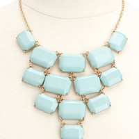 Tiered Bead Statement Necklace: Charlotte Russe