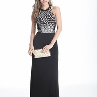 Beautifly Black Halter Backless Long Prom Evening Party Dress